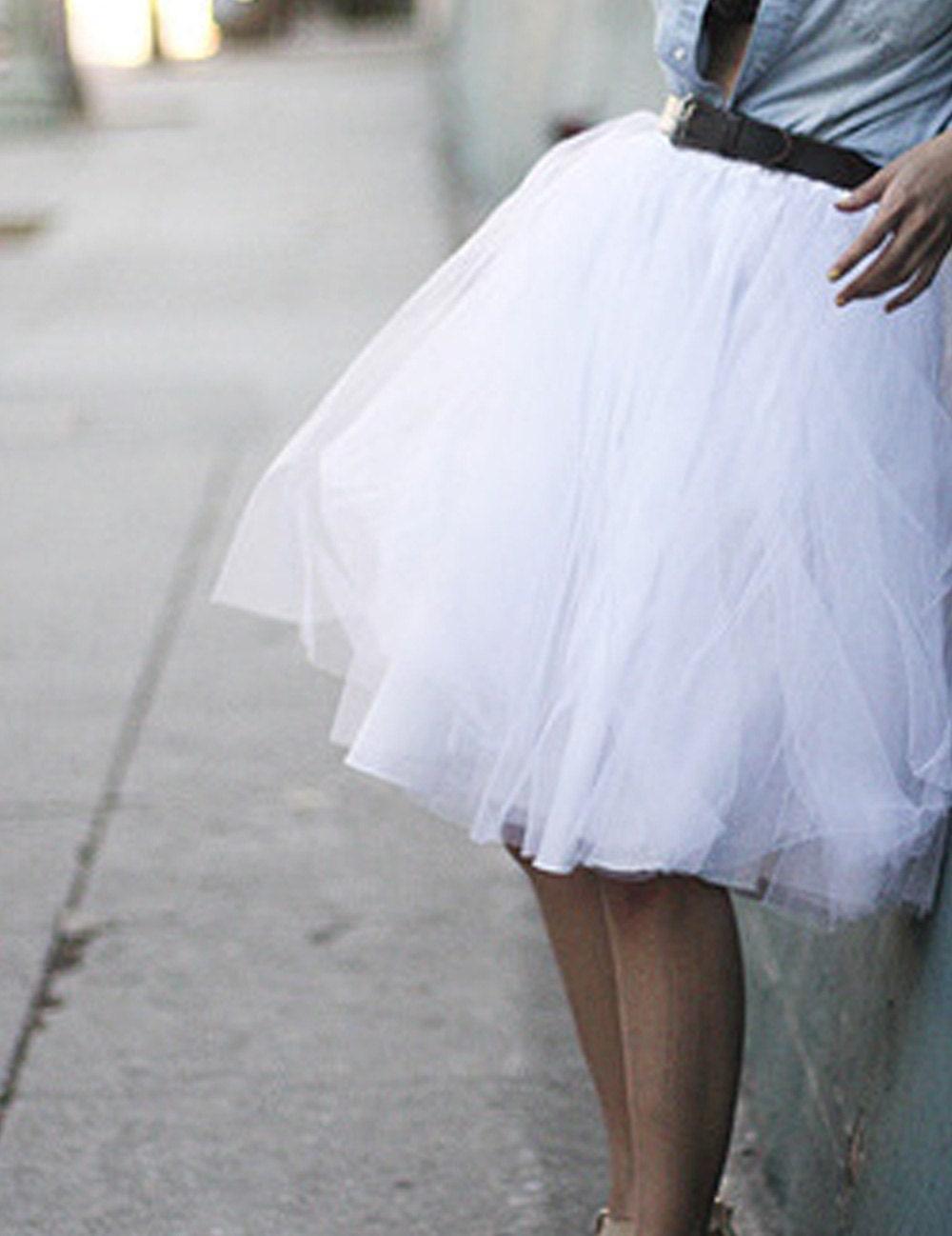 White skirt wedding tu tu ballerina skirt - CGHeaven