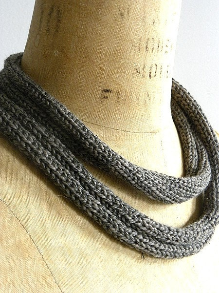 Bound Necklace in Grey and Everest and Fine Silver