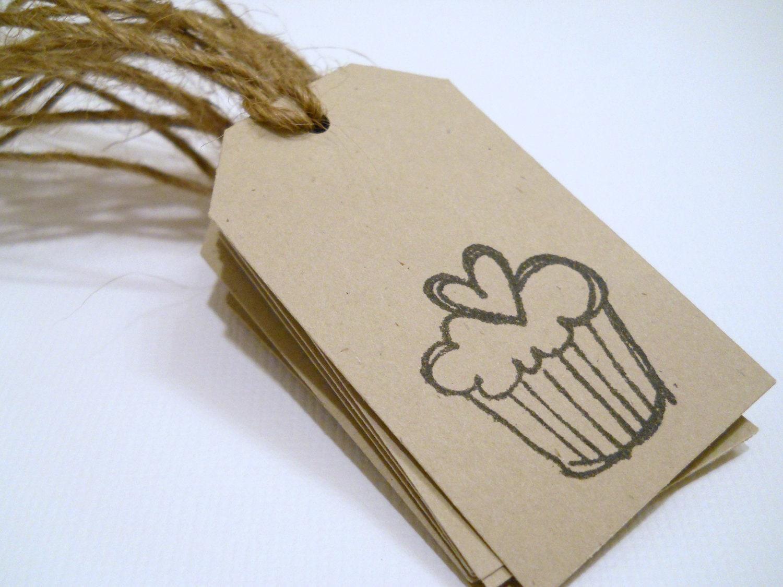 Favor tag - Gift tag - Cupcake tag - QTY 10