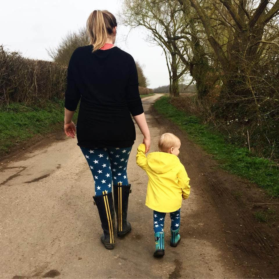 Matching Mummy and Baby Leggings Navy or Petrol Stars First Birthday Gift Mini me Cuff Pants Harems to Match Womens Apparel