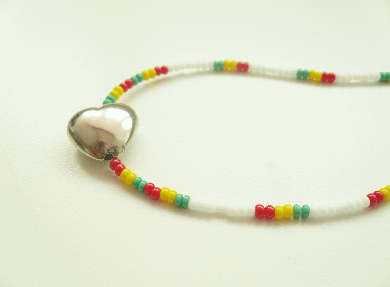Live In Love Waistbead  Body Adornment  Caribbean Wear  Body Jewellery  African Body Adornment  Rasta Wear  Belly Beads  Body Jewelry