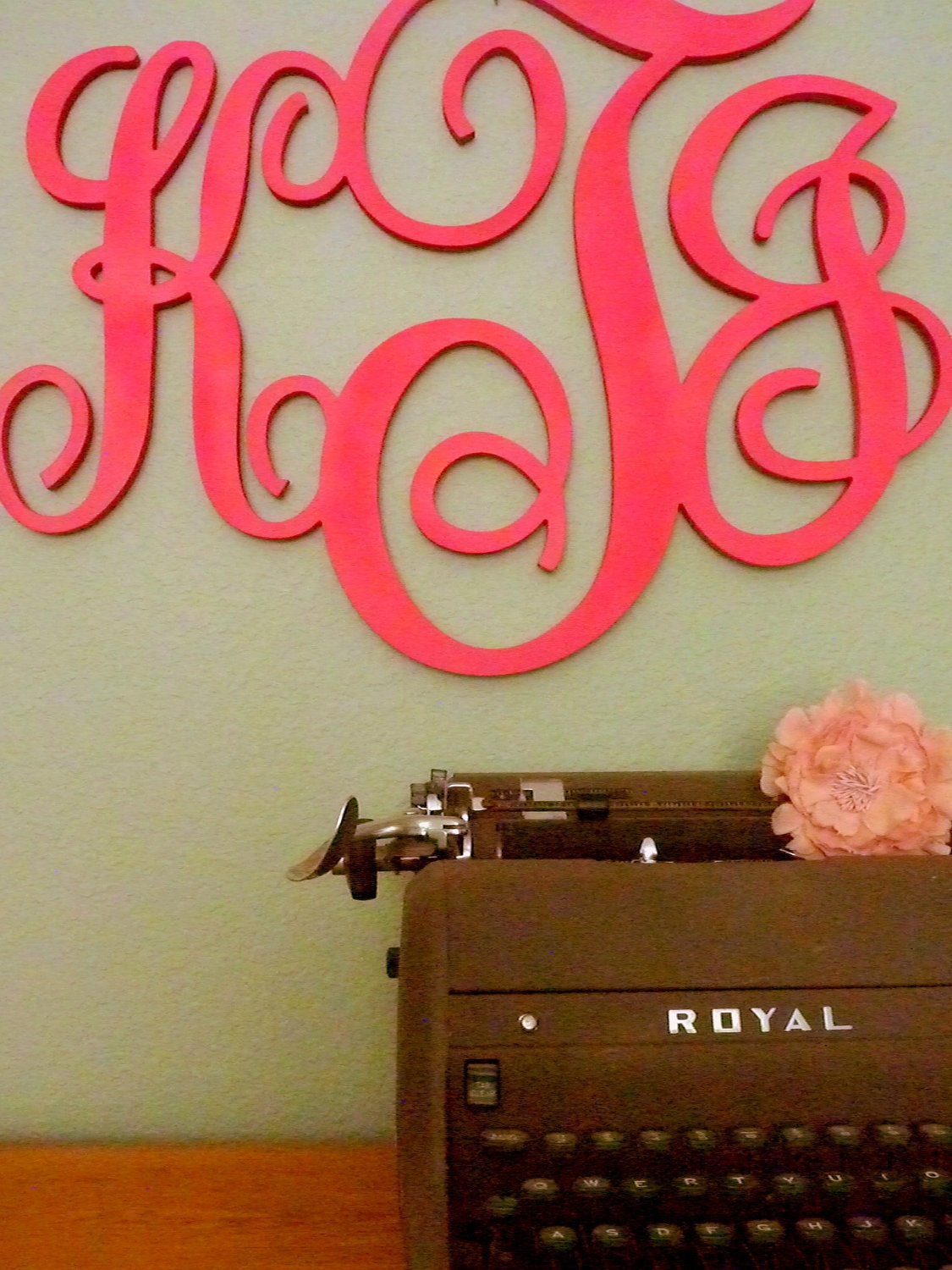 Wedding Guestbook UNFINISHED 18 Wood Monogram by PinwheelFair