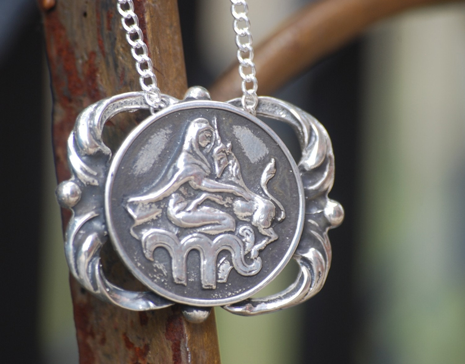 VIRGO - Sirius Starchild for Treehouse Brooklyn Zodiac Sterling Silver Necklace  (FREE SHIPPING TOO)