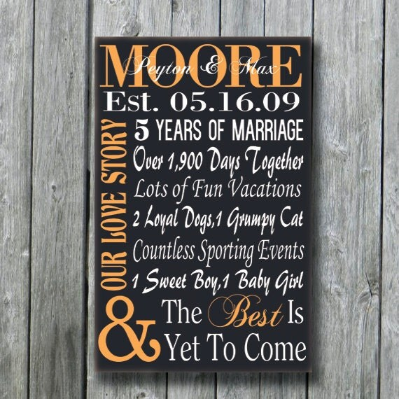 5th Anniversary Gift,Wedding Gift,Engagement Gift,Wife Husband ...