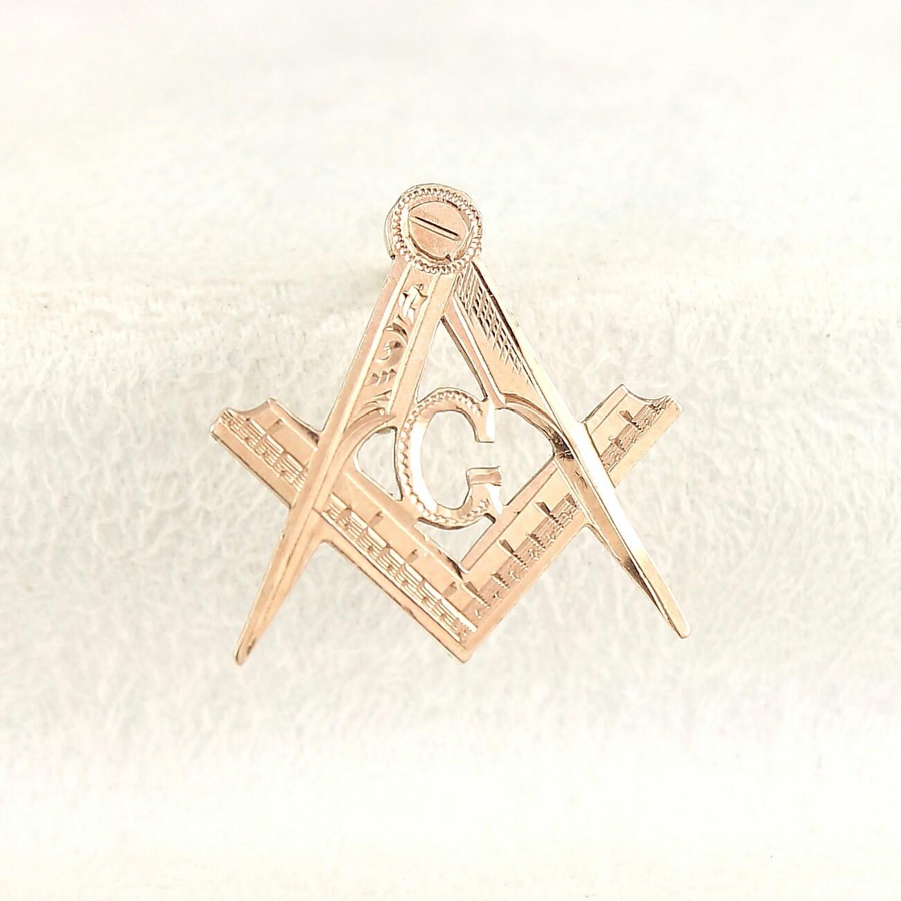 Masonic Antique Lapel Pin 14k Gold By Vintagemasonry On Etsy