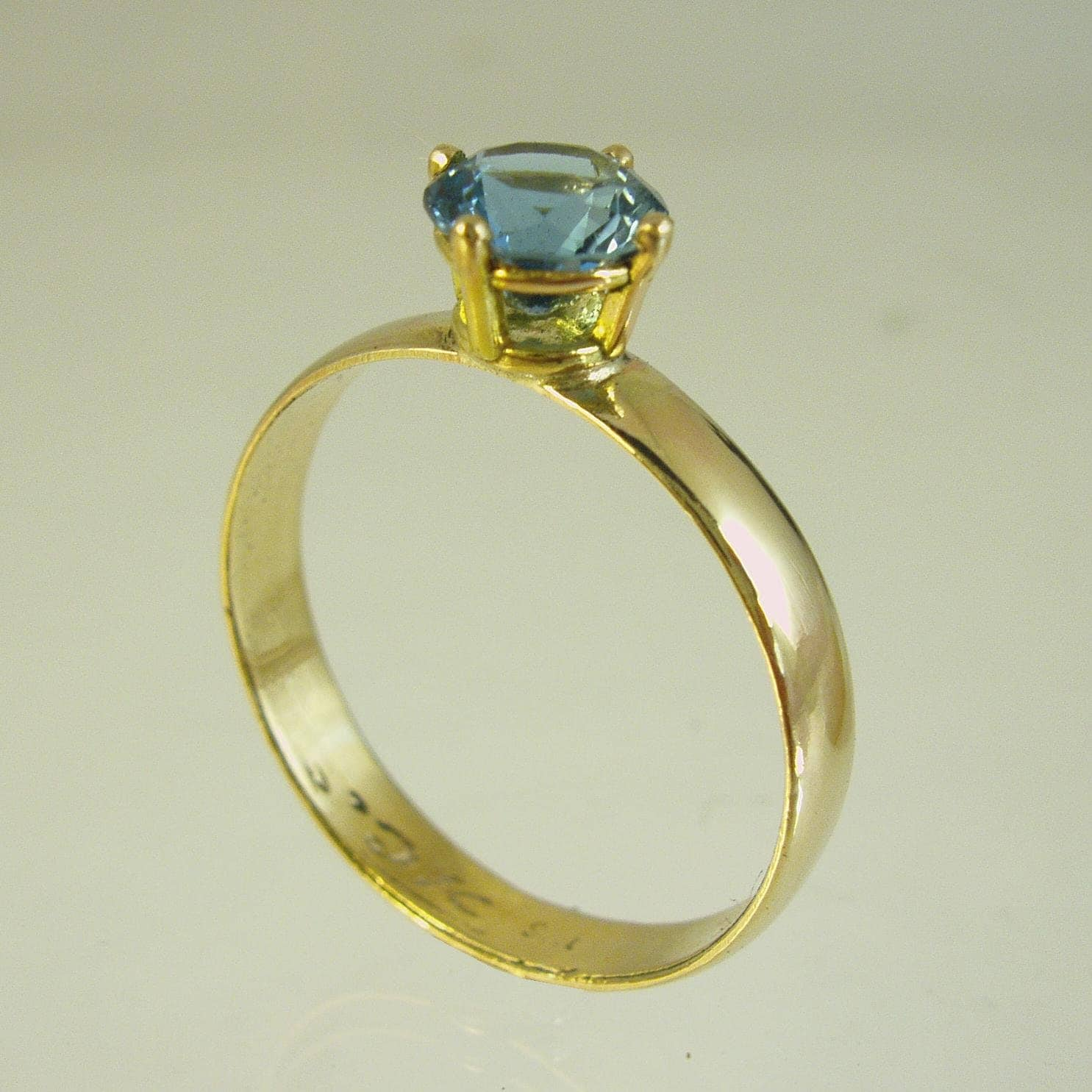 Engagement Ring Gemstone ring 14 karat ring yellow gold ring Recycled gold