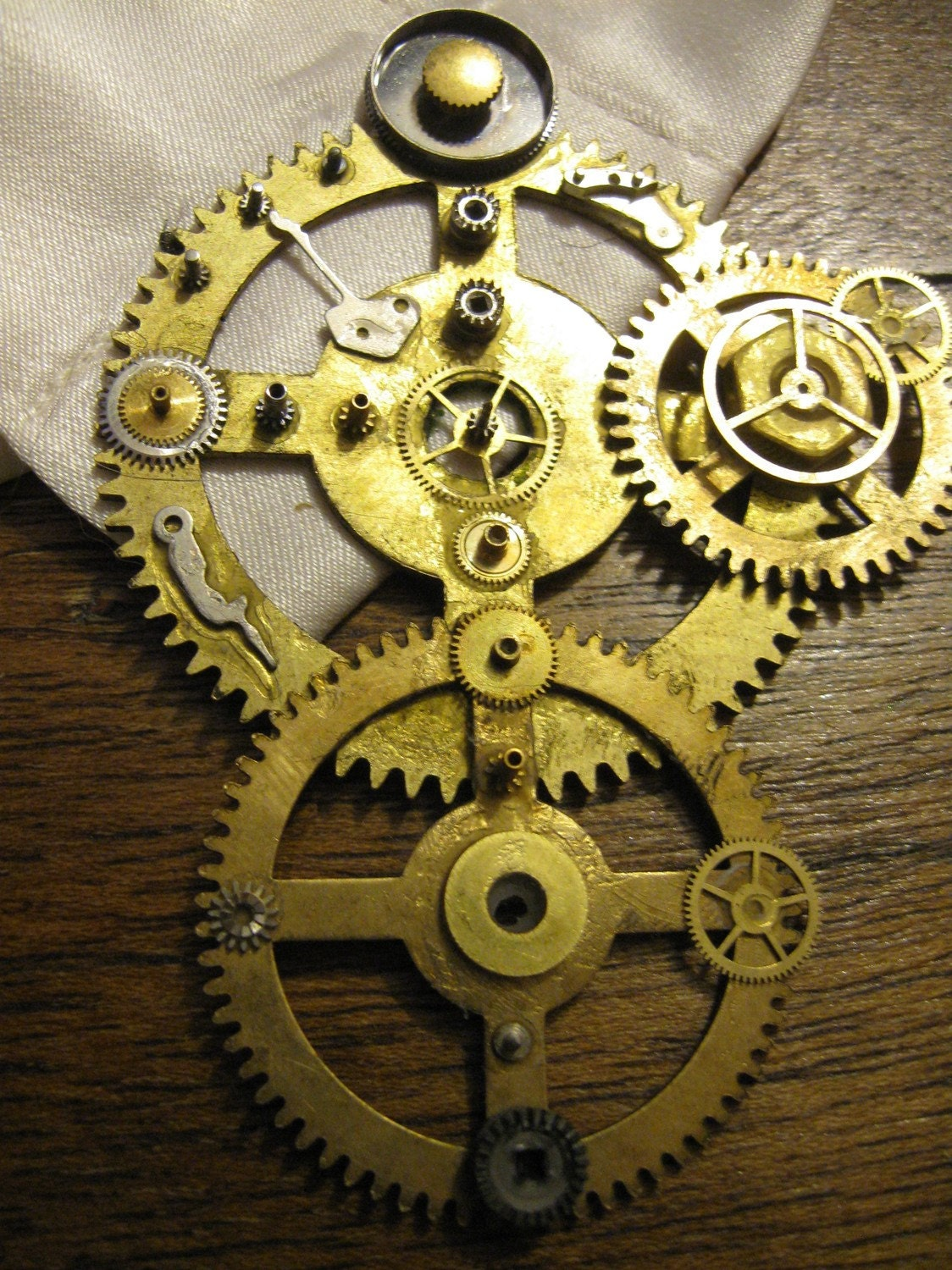 Steampunk Brooch Boutonniere or Pin