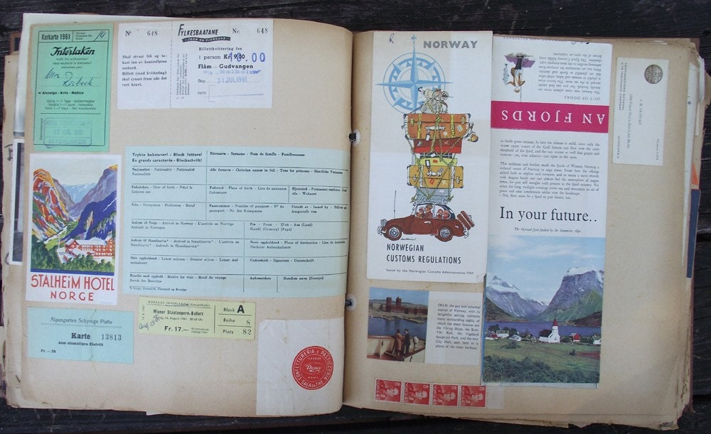 Vintage European Vacation Scrapbook from 1961