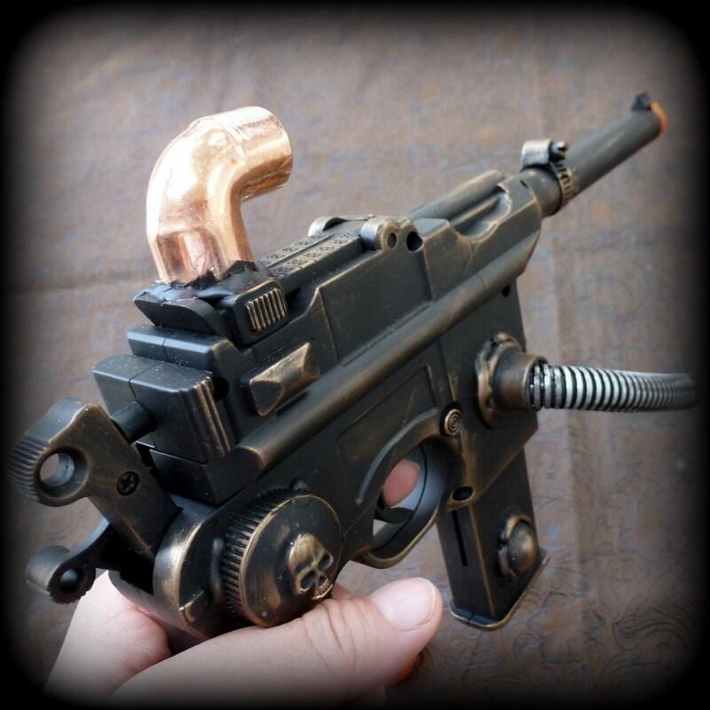 Steampunk Gun pistol Star Wars Han SOLO Airsoft Spring BB mauser broomhandle c96 -- G8 - oldjunkyardboutique