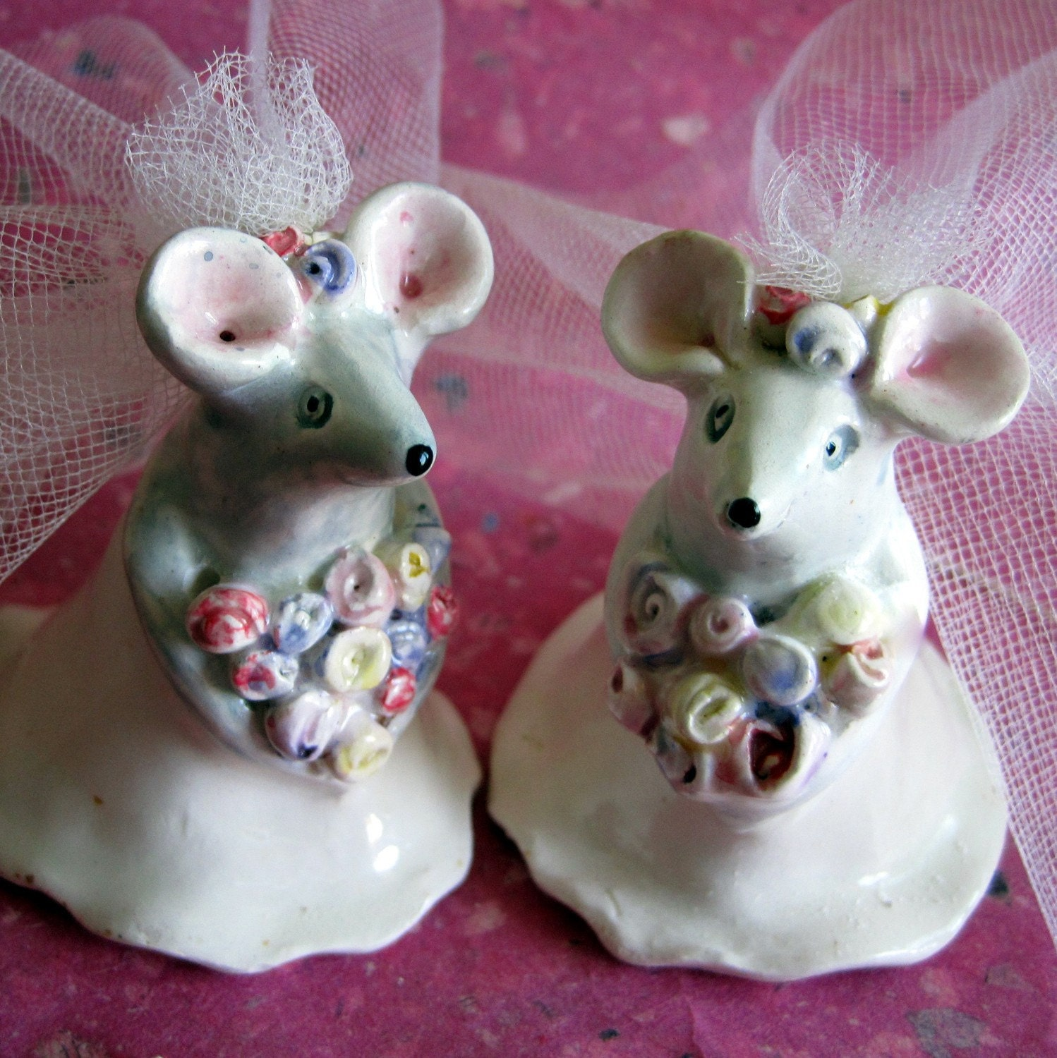 Mice Couple Ceramic CakeToppers