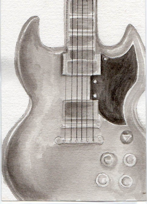 Electric Guitar Drawing In Pencil Cool guitar drawings related ...