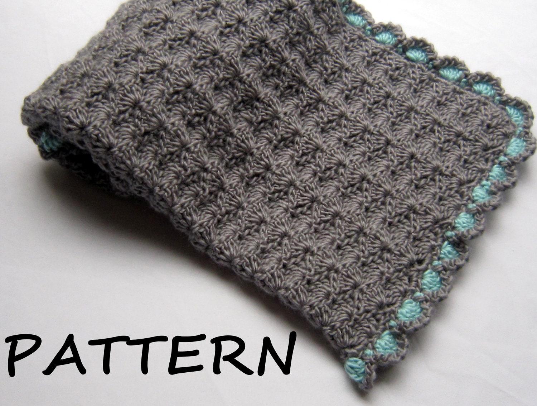 Crochet Baby Blanket Patterns On Etsy : Items similar to Crochet Baby Blanket Pattern - Baby ...