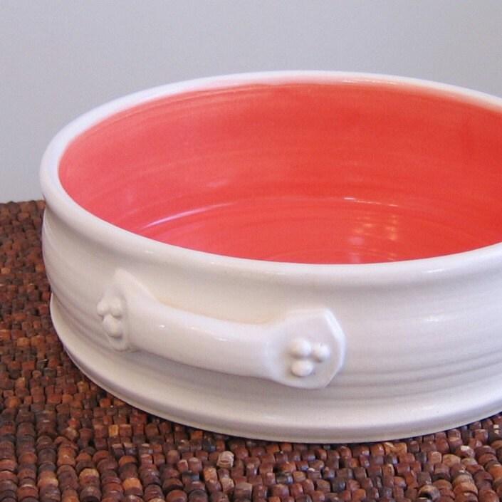 Artisan Handmade White Pottery Brie Baker from Karin Lorenc