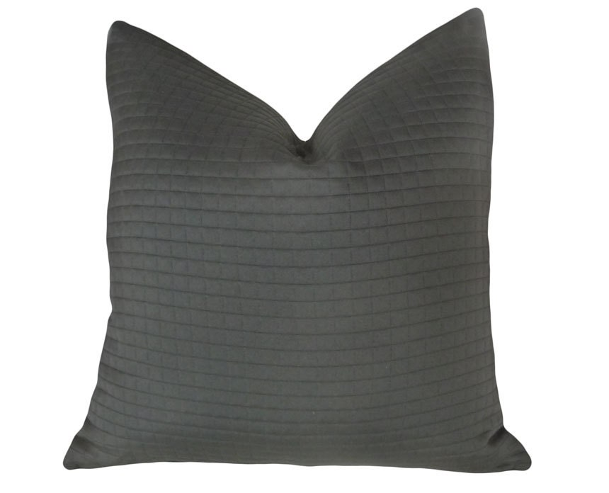 Solid Black Pillow Decorative Throw Pillows by PillowThrowDecor