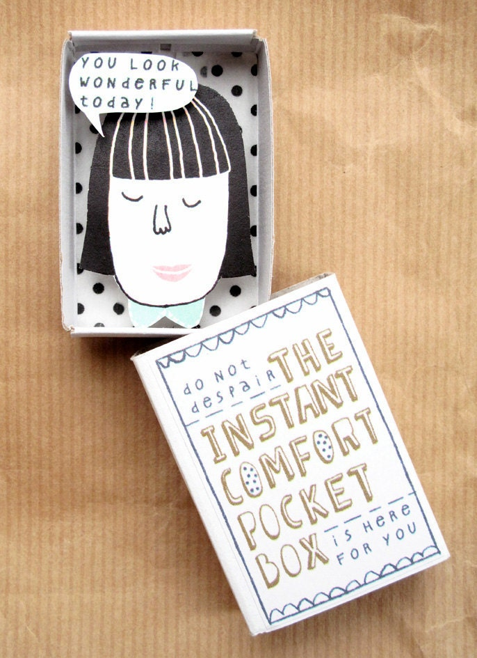 The Instant Comfort Pocket Box - girl with black hair