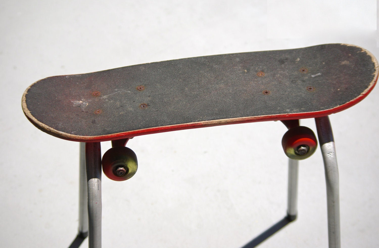 mini skateboard bench seat chair stool recycled by supersock