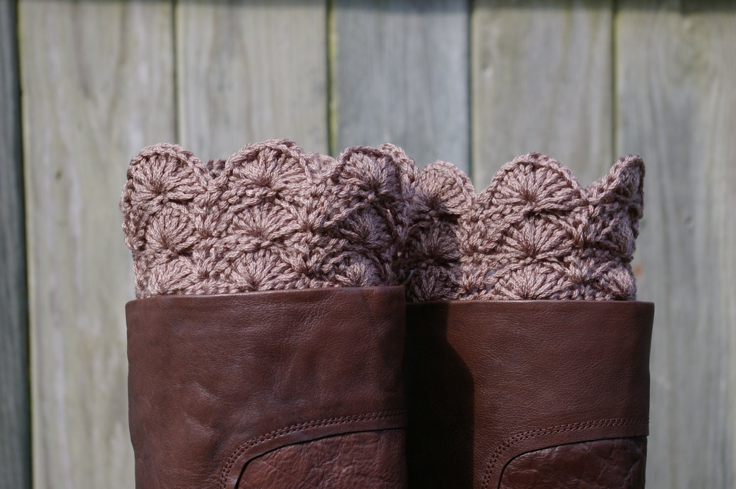 Free crochet patterns boot toppers dancox for boot cuffs in taupe brown crochet boot toppers by free crochet patterns bankloansurffo Images