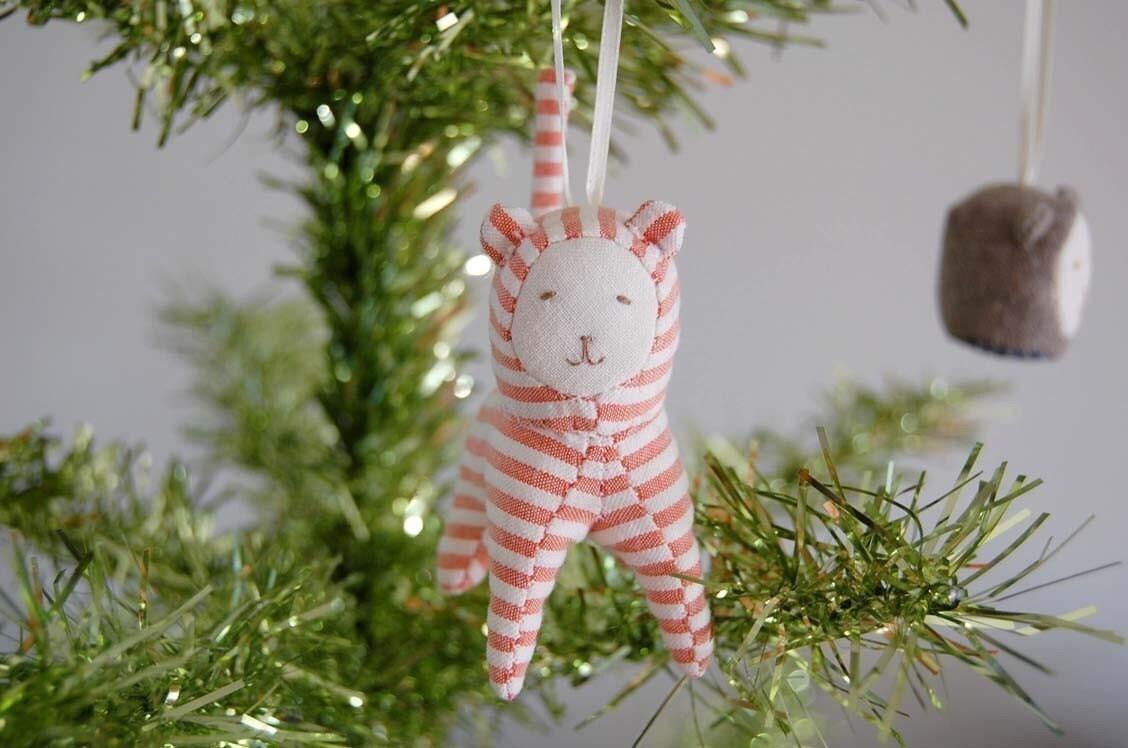 Pink Seer Sucker Ornament