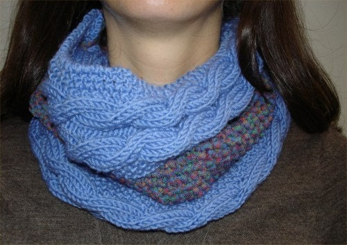 Infinity Scarf Knitting Pattern : KNITTING PATTERN Infinity Scarf PDF by theknittingniche on ...
