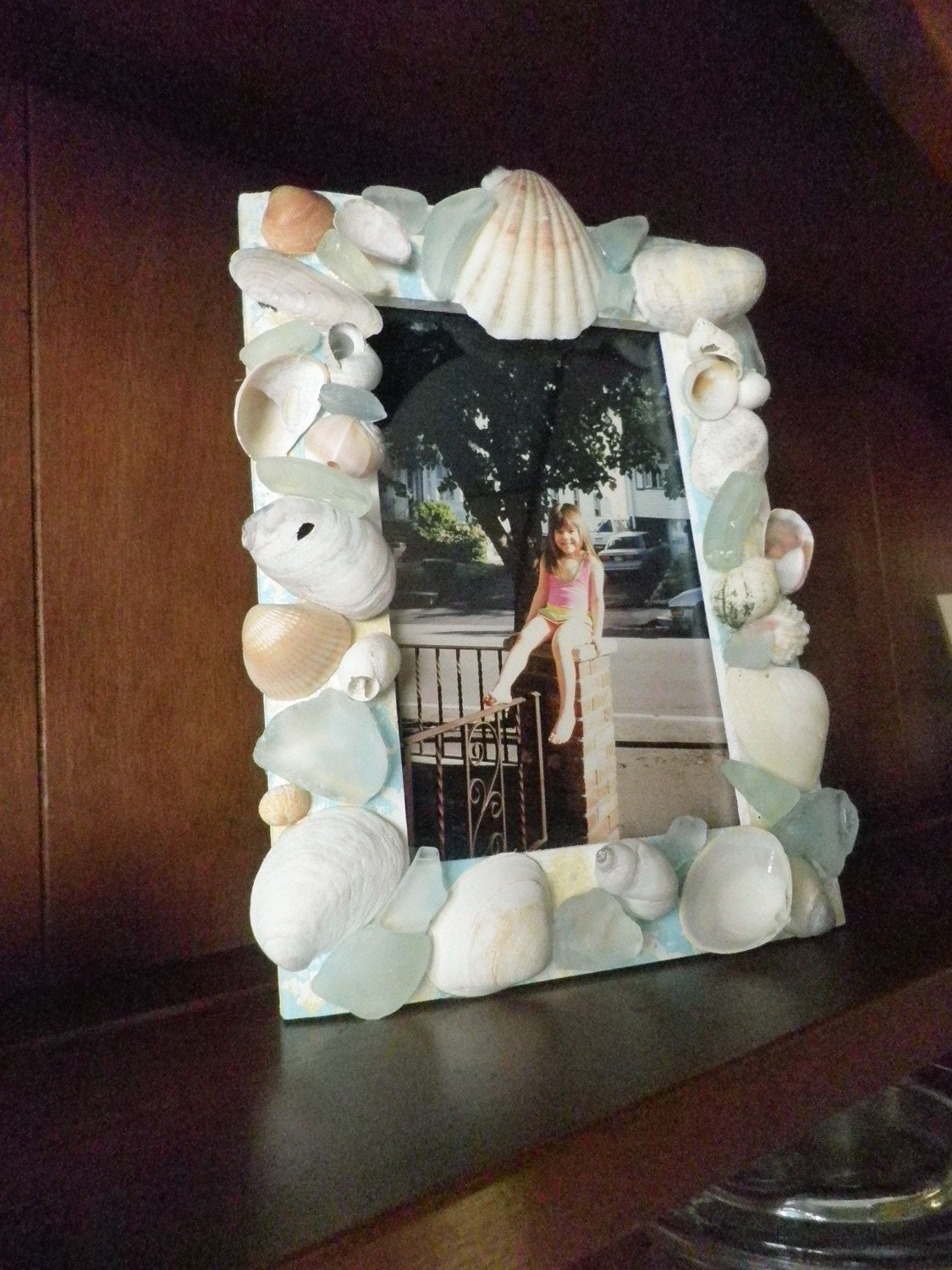 Seashell Photo Frame - Price includes US postage
