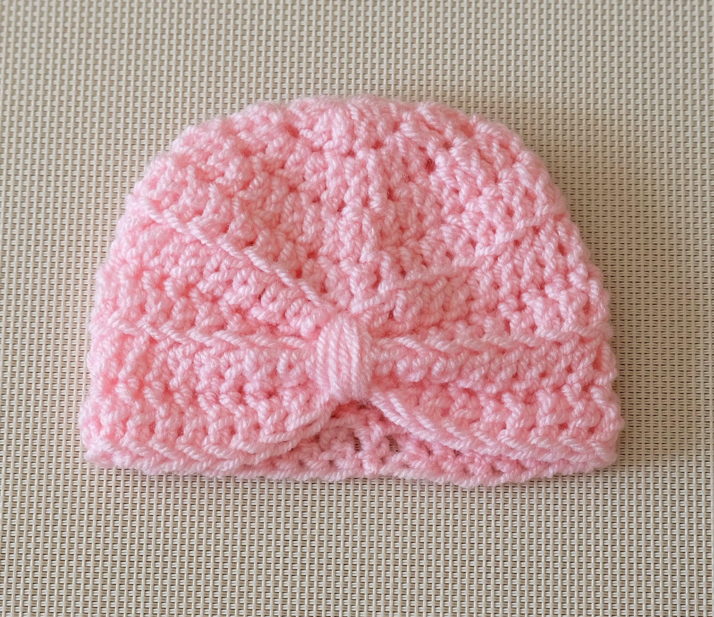 Baby hat Baby girl hat Turban hat Baby turban hat Newborn girl hat Pink turban hat Pink baby girl hat Newborn hat Photo prop
