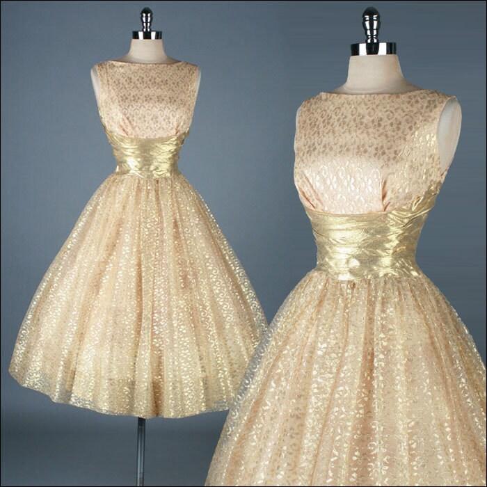 Vintage Gold Dresses 121