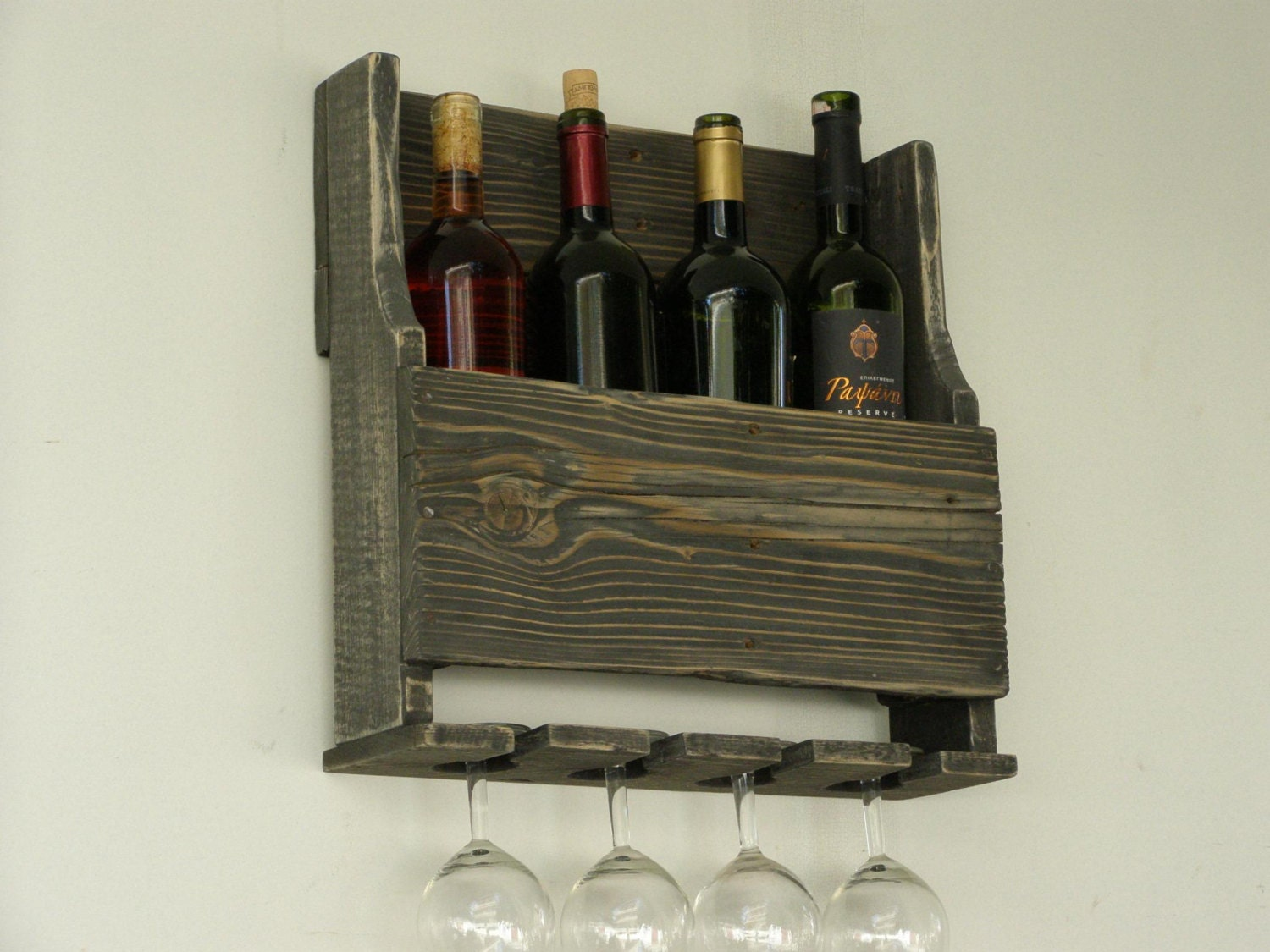 Items similar to pallet wood wine rack rustic home decor Wine rack designs wood