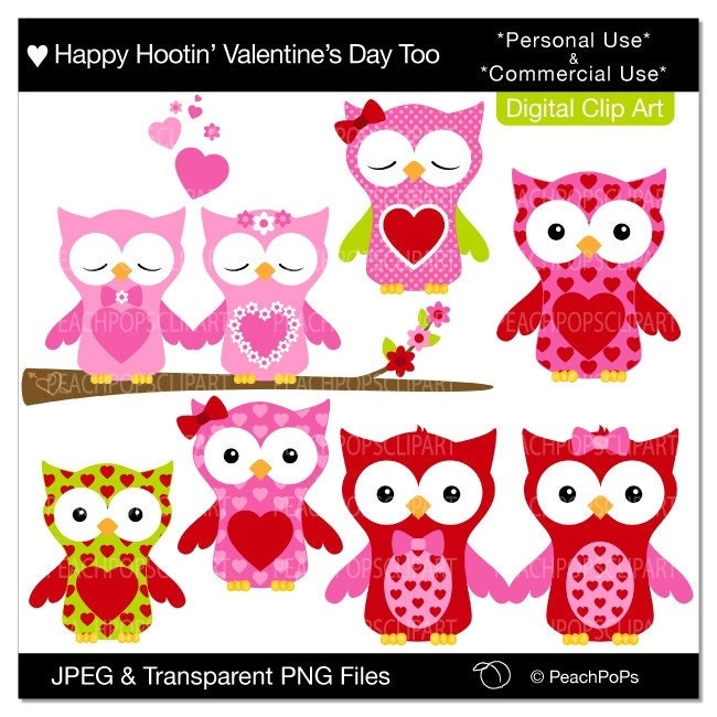 clip art valentines day. Happy Hootin Valentines Day