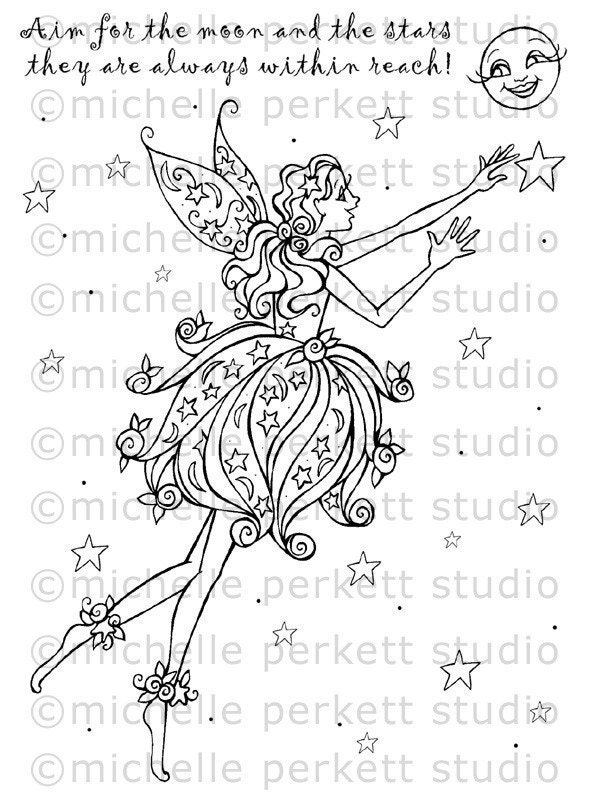 DIGITAL STAMP - MOONROSE FAIRY