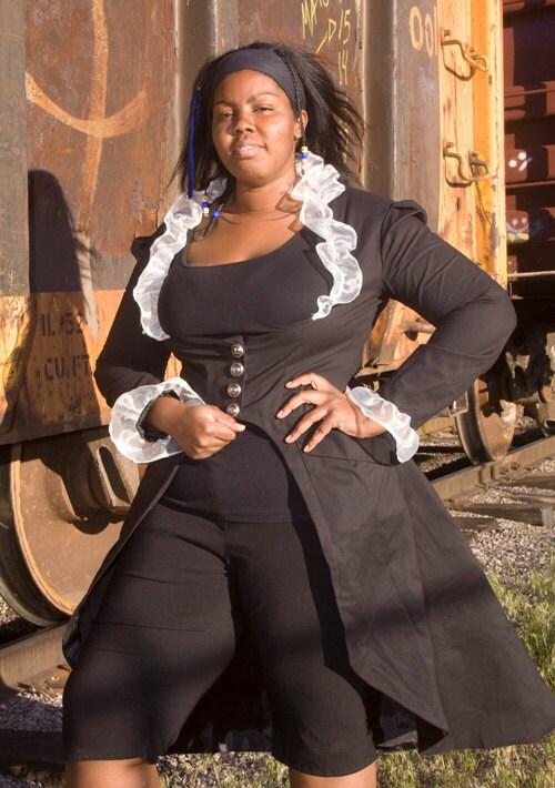 black victorian steampunk corset back underbust by