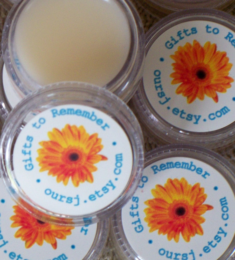 Personalized Lip Balm  or Solid Perfume Favors (Set of 25)