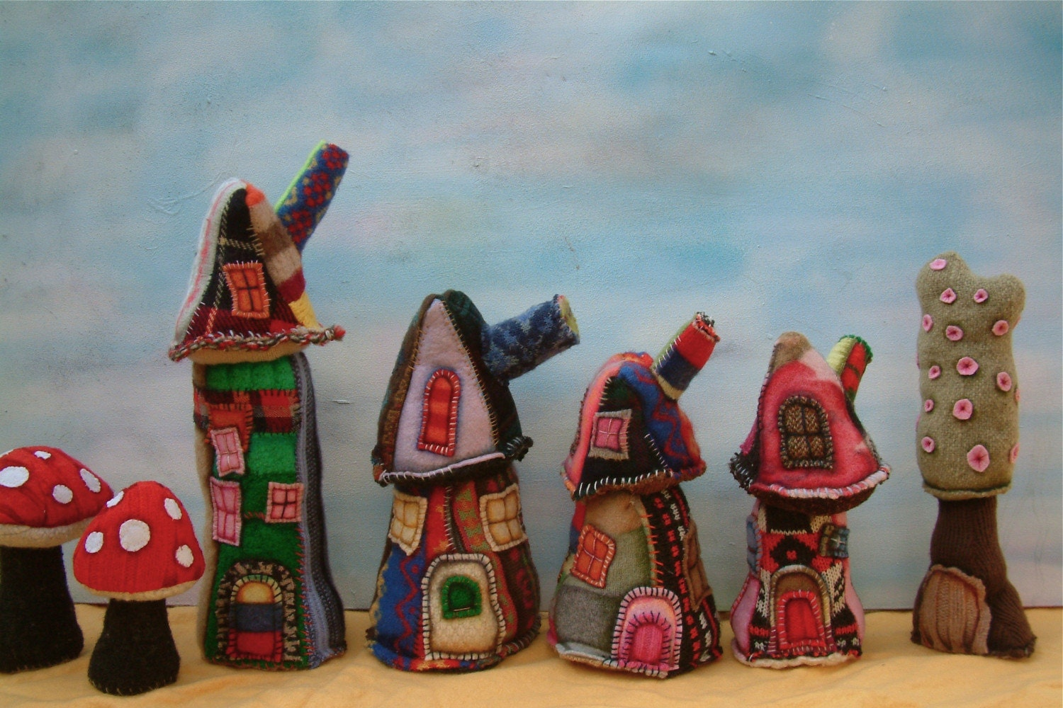 wool houses in a row -taking custom orders