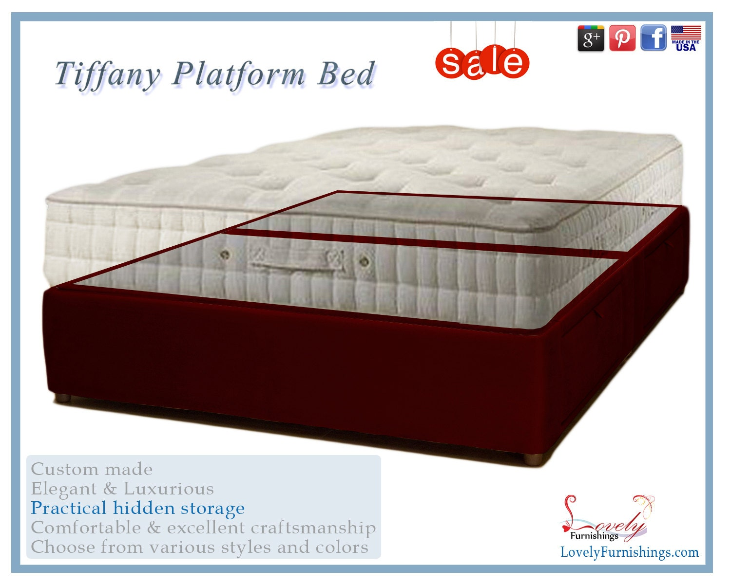 Platform Storage Bed with Underneath Drawers Queen Bed Frame King Bed ...