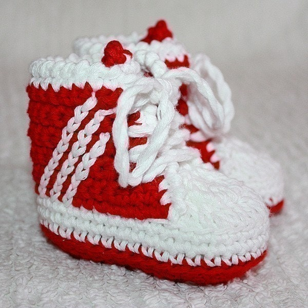 Crochet Pattern Baby Tennis Shoes : Crochet PATTERN pdf file Baby Sneakers tennis by ...
