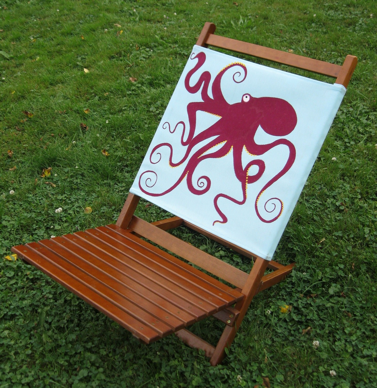 Upcycled Octopus Lay Back Beach Chair