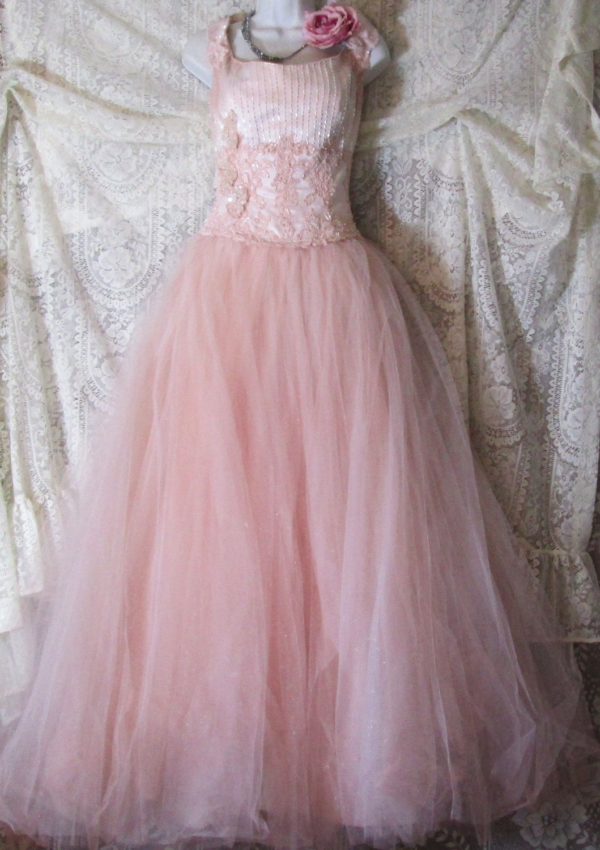 Blush Tulle Wedding Dress : Unavailable listing on etsy