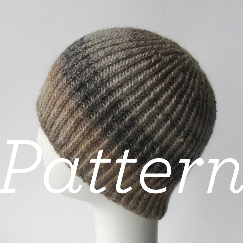 Knit Hat Pattern // Twisted Rib Reversible by shopknitsandprints