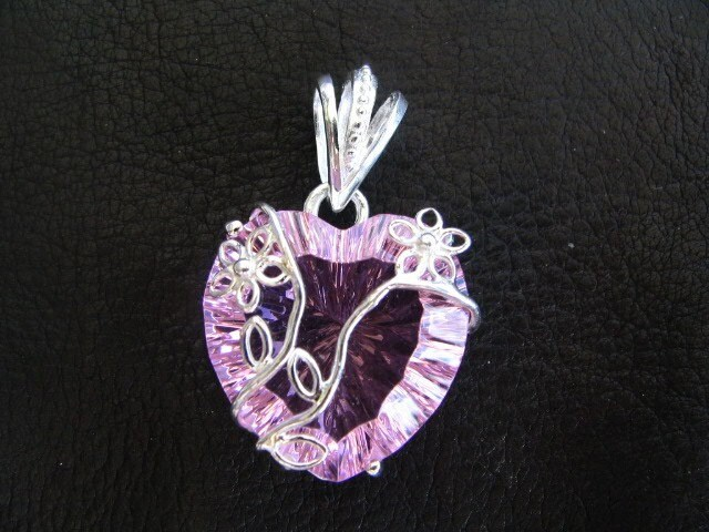 Pretty In Pink -SET- Sterling Silver Kunzite Pendant and Earrings