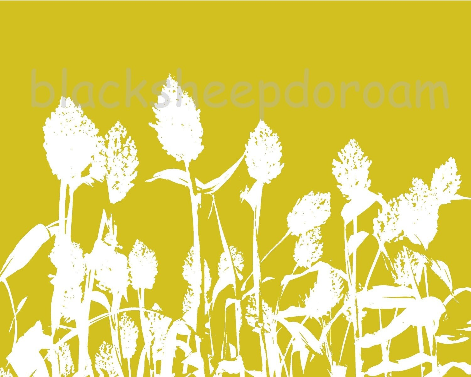 Sunny sorghum - ready to print digital art