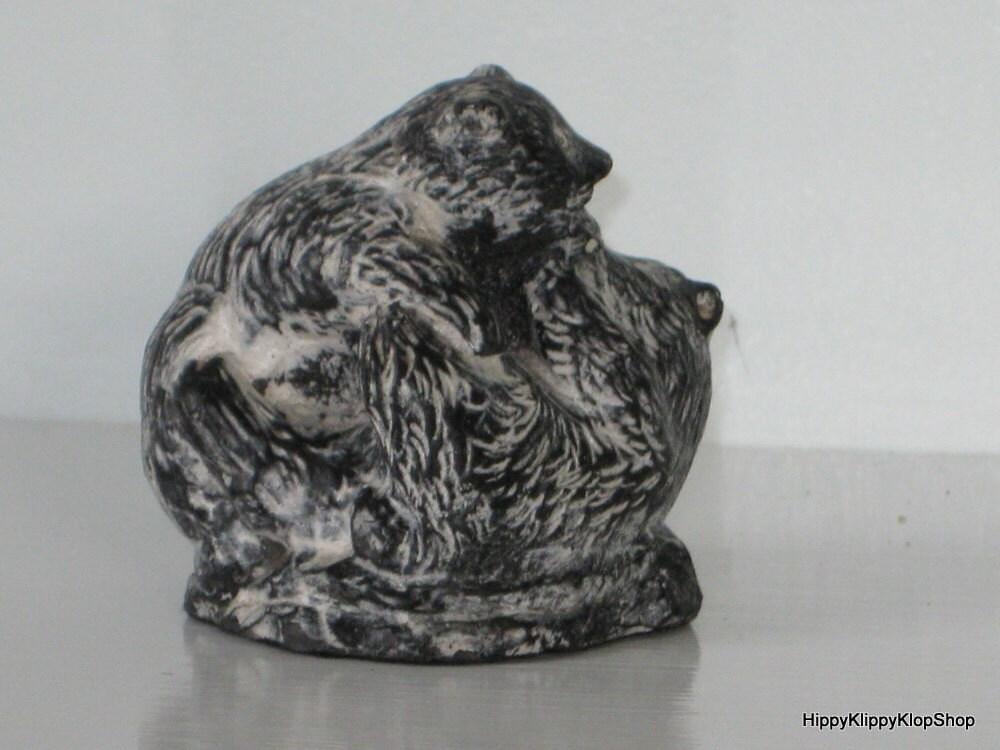 Vintage canada soapstone the wolf by hippyklippyklopshop