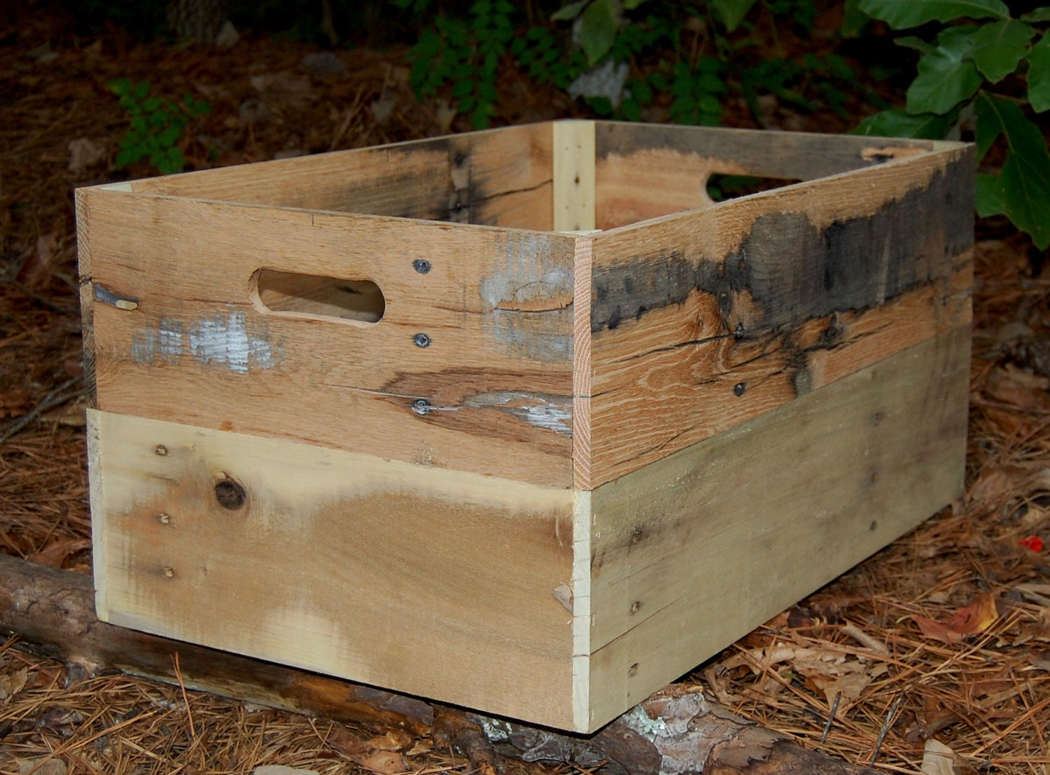 large unfinished crate from reclaimed wood by. Black Bedroom Furniture Sets. Home Design Ideas