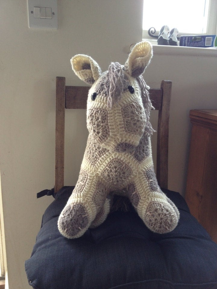 Made to Order Crochet Pony Soft Toy  MEDIUM