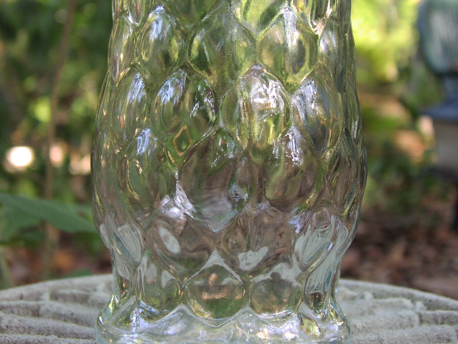 Vintage Clear Glass Eo Brody Tall Flower Vase By