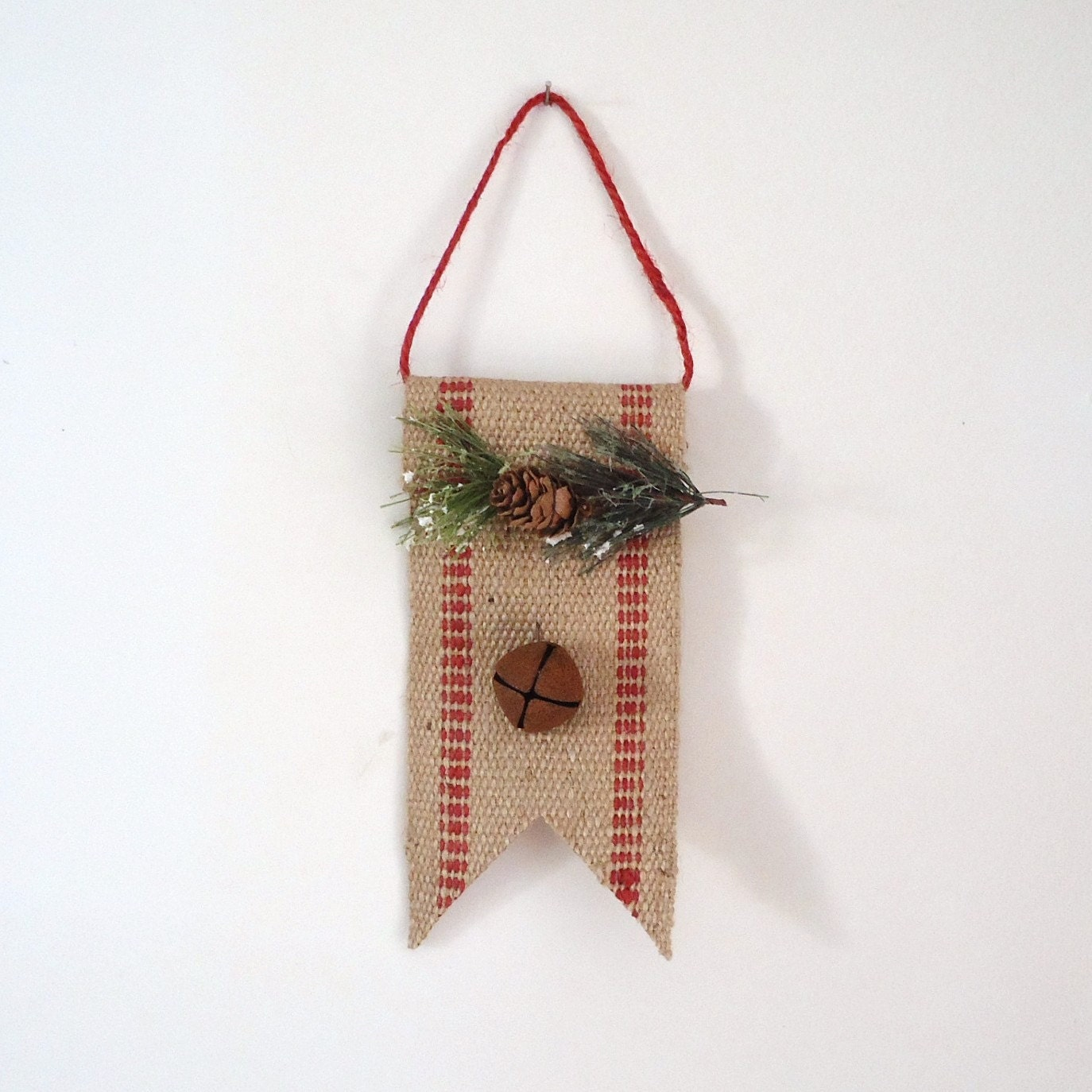 Unavailable listing on etsy for Burlap christmas decorations to make