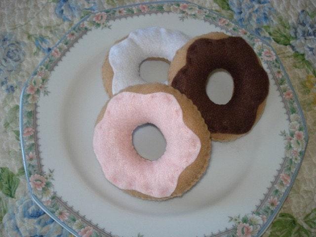 Felt Donut Play Food Set