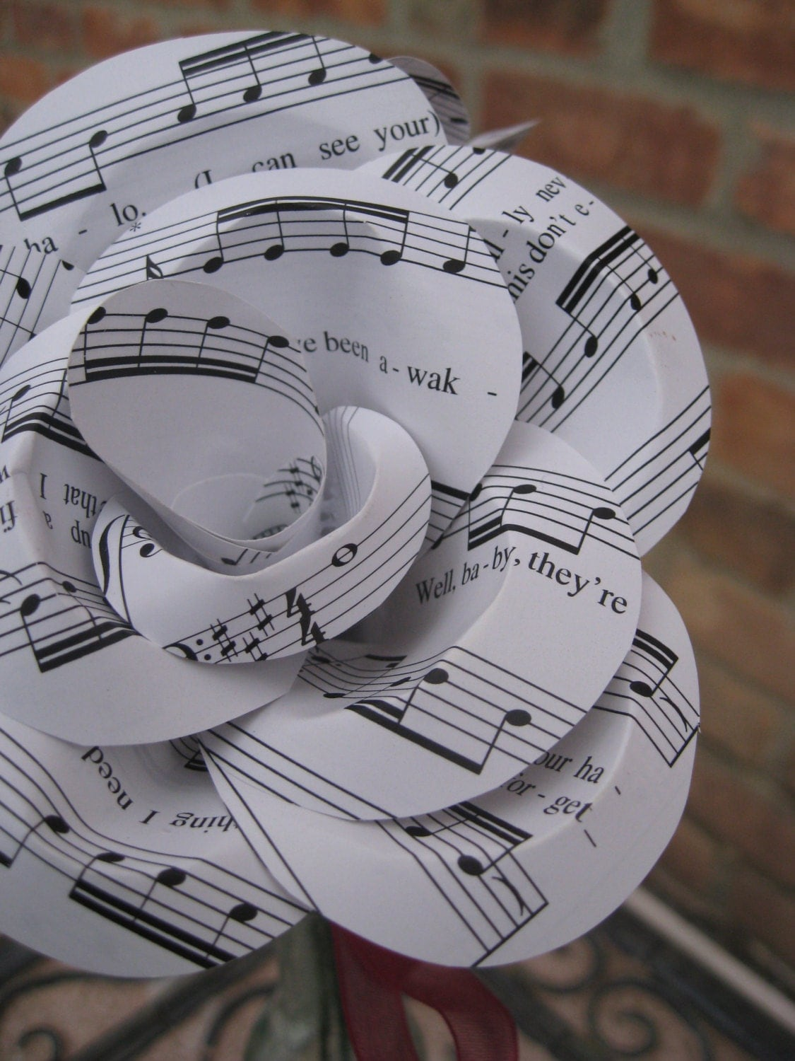Beyonce halo sheet music paper roses valentine by for Paper roses sheet music free