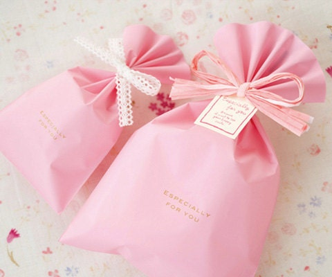 10 Pink Wrapping Bags -2Types