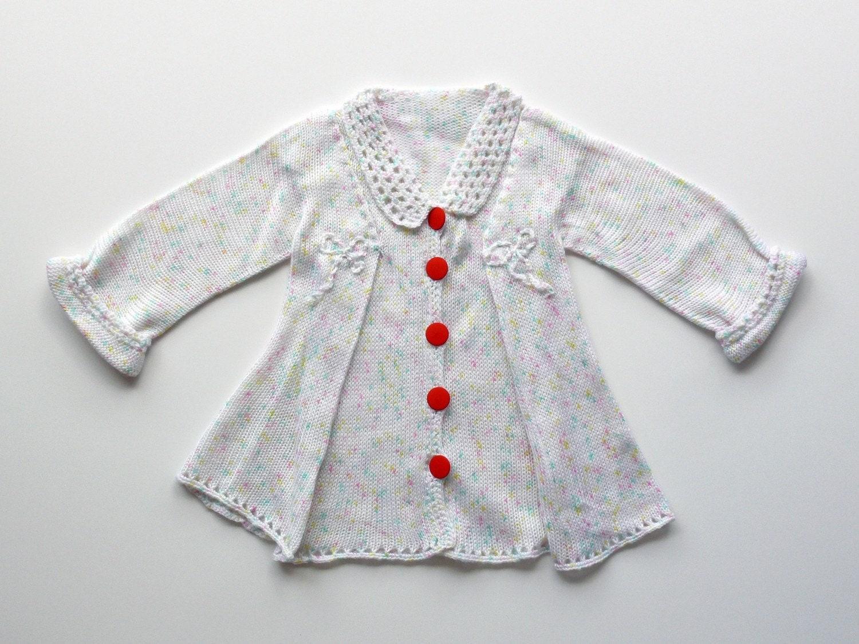 دختر رمانتیک knitted ژاکت کش باف پشمی 3-4 سال