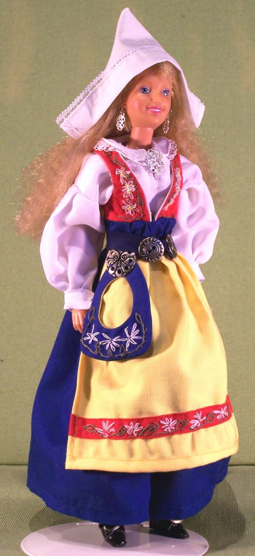 Swedish Style Folk Dress PATTERN For 115 Barbie By