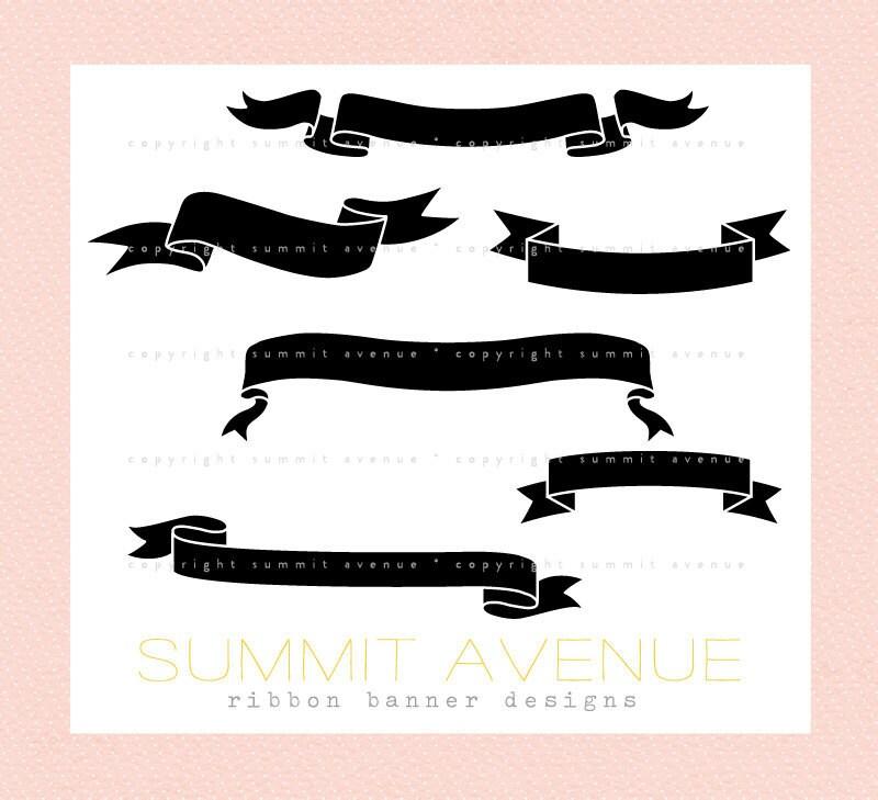 ribbon banner clip art. ribbon amp; anner silhouettes